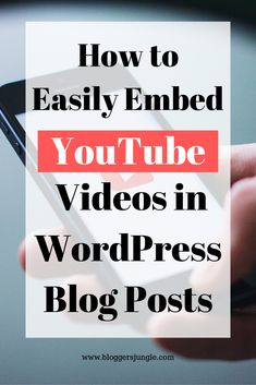 Do you want to embed YouTube videos in WordPress blog posts? This step-by-step tutorial will guide you and you will embed a video within a few clicks with no coding skills. #bloggingtips #wordpressforbeginners #wordpress #bloggingforbeginners