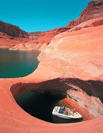 Lake Powell. Rock Creek Arch.  Never before-seen beauty.  You seriously have to see it to believe it.
