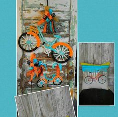 Doo Hanger, Bicycle Decor, Summer Wreaths, Wreaths by SpecialgiftsbyTammy on Etsy