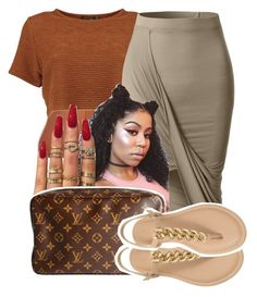 """""""1298"""" by ashley-mundoe ❤ liked on Polyvore featuring LE3NO and Louis Vuitton"""