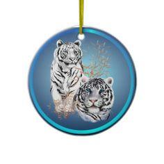 White Tigers -Ornaments