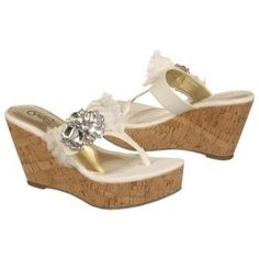 $68.99 CARLOS BY CARLOS SANTANA Sparkly Sandals White Women`s Sandals class
