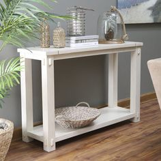 Rustic Mirrored Lattice Console Table Console tables Consoles and