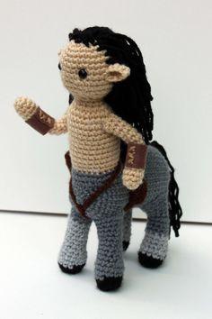 Male Centaur Crochet Plush Narnia Inspired by MilesofCrochet: etsy Cute Crochet, Crochet Crafts, Crochet Dolls, Yarn Crafts, Crochet Projects, Knit Crochet, Crotchet, Amigurumi Doll, Amigurumi Patterns