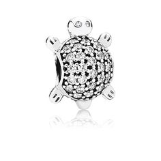 Turtles represent stability, patience and protection. Create your own dreamy escape by introducing this sweet ocean creature, crafted from sterling silver and embellished with 32 sparkling hand-set stones, to your bracelet. #PANDORA #PANDORAcharm