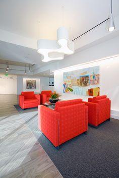 Beautiful seating area #seatingarea #design #moderndesign http://www.ironageoffice.com/