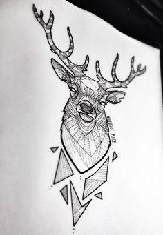 Tattoo tear sheet illustration by Nouvelle Rita tattoo shop. MIrad que figuras geometricas más chulas