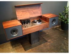 This is NOT your Dad's console stereo…  Symbol Audio's Modern Record Console