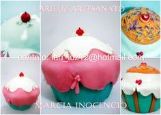 Cupcake Fake ideal para decoração de mesas