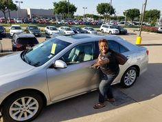 Congratulations to Anita Ruffin on her 2nd purchase of a vehicle from me,  a 2013 Toyota Camry!!!!  If you need a new ride call me Adonis Cook @817-919-4024 today