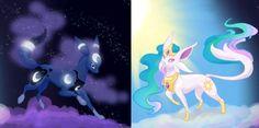 Mlp celestia and Luna eeveelutions