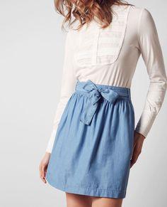 Résultats de recherche d'images pour «jupe tencel jeans québec» Indigo, Jean Skirt, My Design, Midi Skirt, High Waisted Skirt, Images, Women's Fashion, Boho, Denim