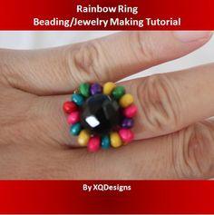 FREE Rainbow Ring Beading Jewelry Making Tutorial