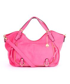 Look what I found on Pink Crescent Hobo by Big Buddha Big Buddha Bags, Balenciaga City Bag, Beautiful Bags, Shoulder Bag, Handbags, Purses, Pink, Leather, Accessories
