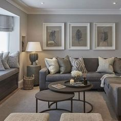 Contemporary living room colors modern grey and tan living room interior design living room color scheme . Earthy Living Room, Elegant Living Room, Living Room On A Budget, Living Room Grey, Home Living Room, Interior Design Living Room, Cozy Living, Modern Living, Minimalist Living