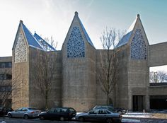 Church St Gertrud (1963-65) in Cologne, Germany, by Gottfried Böhm