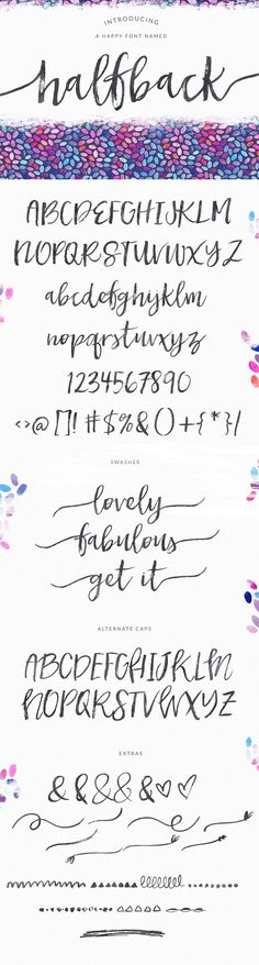 Dry Brushed Calligraphy Font Design, Halfback by Angie Makes | angiemakes.com