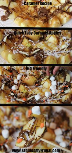 We like to call these caramel nachos. Super easy and quick way to make caramel apples!