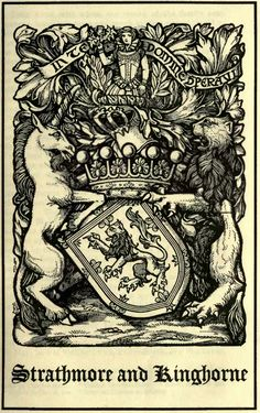 Lyon, Earl of Strathmore and Kinghorne (S The Scots peerage founded on Wood's edition of Sir Robert Douglas's Peerage of Scotland, edited by Sir James Balfour Paul, Lord Lyon King of Arms, Bowes Lyon, Robert Douglas, My Family History, European History, Ex Libris, Coat Of Arms, Printmaking, Art Decor, Typography