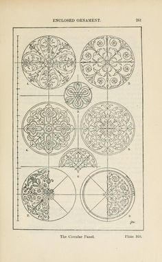 A Handbook of Ornament by Franz Sales Meyer (published in Three thousand illustrations to browse for inspiration Zentangle, Pattern Art, Pattern Design, Zantangle Art, Sacred Architecture, Carving Designs, Motif Floral, Illuminated Manuscript, Islamic Art