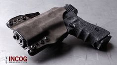 G-Code INCOG with tactical fuzz Kydex. Best CCW holster for the money, bar none. Coldre Kydex, Ccw Holsters, Custom Holsters, Edc Tactical, Cool Gear, Guns And Ammo, Concealed Carry, Firearms, Hand Guns