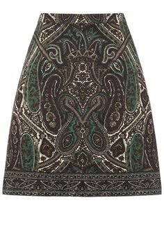 As if the flattering A-line was not excuse enough, this stunning jacquard skirt features an eye-catching paisley print in muted tones that will work with almost anything. Tights or tan, it is an all-season piece.