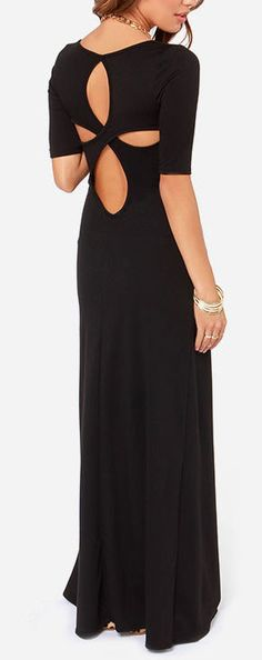 Keyhole cut out maxi