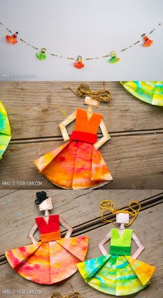 Dancer Garland (fun with coffee filters!) from make-it-your-own.com (Crafts & Activities for Kids)