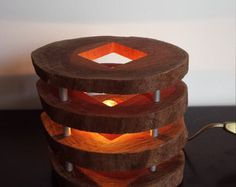 Wooden lamp with name by houtlokael on Etsy