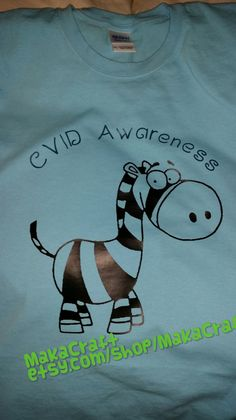 Check out this item in my Etsy shop https://www.etsy.com/listing/220980189/cvid-awareness-cartoon-zebra-t-shirt