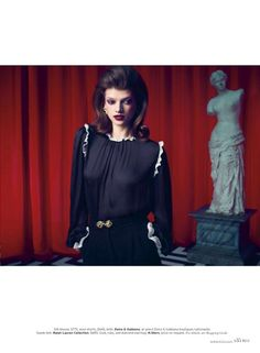"Elle magazine Twin Peaks photo shoot - i feel i couldve swooned something a bit more ""surreal"" for the black lodge - or at the very least a bit of homage in the pose! (im thinkin the meanwhile)"