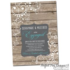 Couples Engagement Party - Wedding Shower Invitation - Chalkboard Paisley Country Western, Bridal or Birthday Printable DIY Digital on Etsy, $15.00