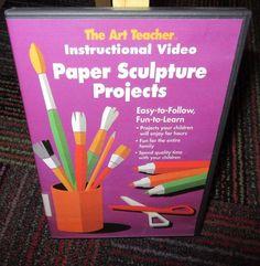 PAPER SCULPTURE PROJECTS DVD, THE ART TEACHER INSTRUCTIONAL VIDEO, FUN TO LEARN