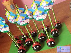 Cake Pops de mariquitas Ben & Holly.... divinos! Birthday Sweets, 1st Birthday Cakes, Fairy Birthday, 3rd Birthday Parties, Boy Birthday, Ben N Holly, Ben And Holly Cake, Ben And Holly Party Ideas, Easter Cake Pops