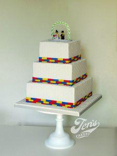 Lego Wedding Cakes, Themed Wedding Cakes, Themed Cakes, African Wedding Cakes, Lego Birthday, Cake Birthday, Birthday Ideas, Wedding Cake Designs, Wedding Ideas