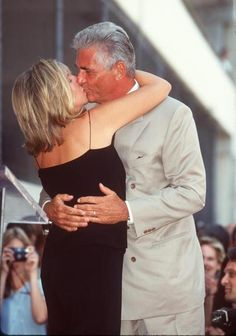 James Brolin and Barbra Streisand during James Brolin Honored with a Star on the Hollywood 1998