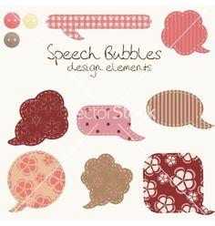 Set of different speech bubbles design elements vector on VectorStock®