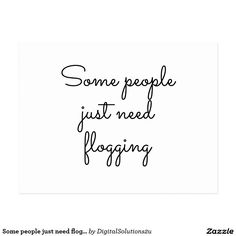 Some people just need flogging postcard