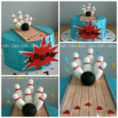 Superb 53 Best Bowling Birthday Cakes Images Bowling Birthday Cakes Personalised Birthday Cards Paralily Jamesorg