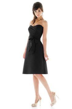 Alfred Sung D437 Bridesmaid Dress   Weddington Way Black