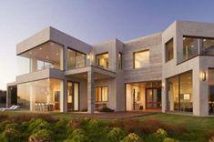 decoracion de fachadas de casas modernas dos plantas