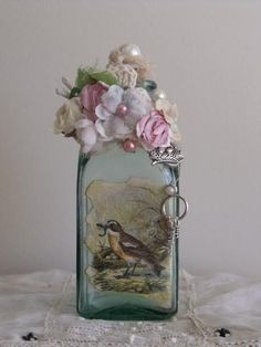 Shabby Chic bottle facilisimo.com