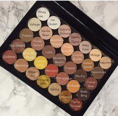 Makeup geek Z Palette setup