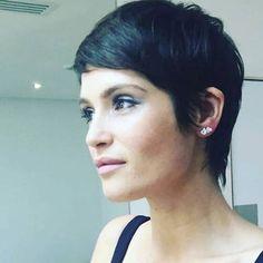 Gemma Arterton, short crop hairstyle