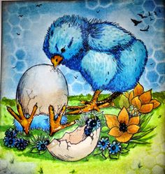 Fitztown Challenge Blog: Fitztown Chick Easter, Easter 15 from http://www.fitztown.com/easter.html, digital stamp, visit Ivette's personal blog for details: http://n1sunrider.blogspot.com/2014/04/fitztown-easter-chick.html