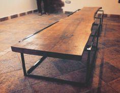 Tavolo per Il Bibliofilo #design #wood #noce #ferro