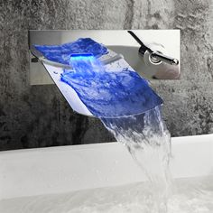 Buy (EU Lager) LED Wasserhahn Bad Wasserfall Wandmontage Chrom with Lowest Price and Top Service!