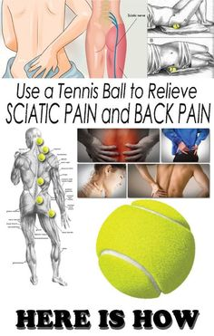 Use a Tennis Ball to Relieve Sciatic Pain and Back Pain! Here is Ho