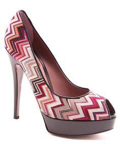 Chevron schoenen. Pinterested @ wedspiration.com.