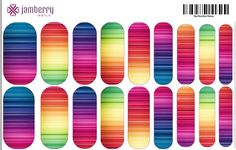 Horizontal Stripe Nail Wraps. Create your own in the Jamberry Nail Art Studio for a one is a kind look! www.kimd.jamberrynails.net/nas